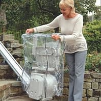 outdoor stairlift with clear cover