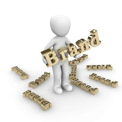 Gold brand words