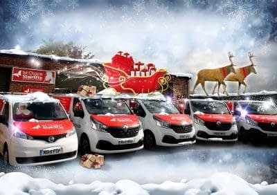 Christmas Vans at 1stChoice Stairlifts